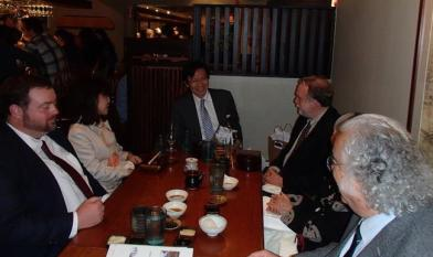 Consul General Muto and Mrs. Muto from the Consulate of Japan In Boston. Picture taken at Yosaku Japanese Restaurant on May 10, 2013 by Naoto Kobayashi