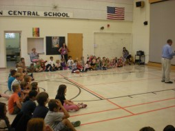 The students at Georgetown Central School are eager with anticipation!