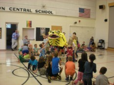 The students at Georgetown Central School are performing the Tiger Dance!